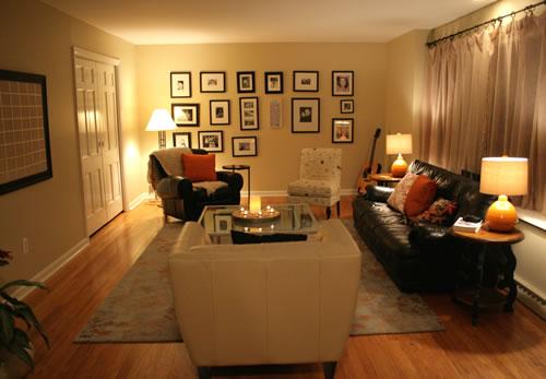 living room after DIY decorating