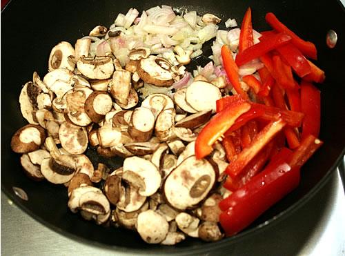 mushroom shallot red pepper