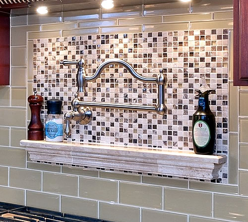 functional kitchen backsplash