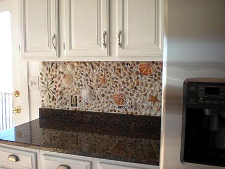 seashell kitchen backsplash