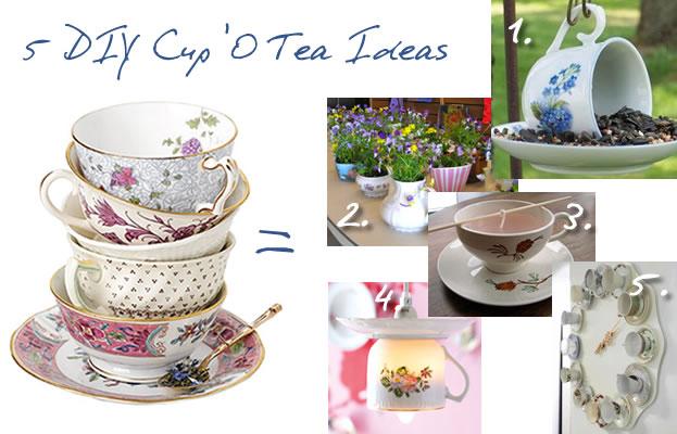 5 DIY Ideas for Repurposing Tea Cups
