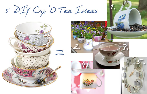 5 DIY Ideas for Repurposing Tea Cups