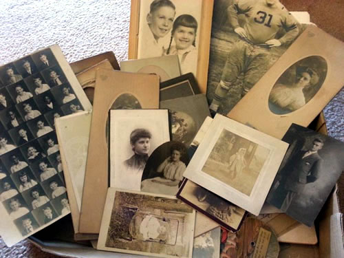 old photos from flea market
