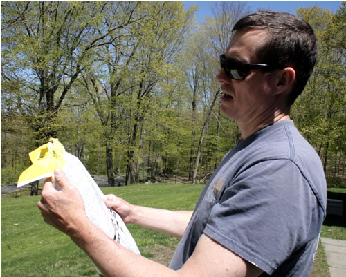 reading instructions on ironite bag