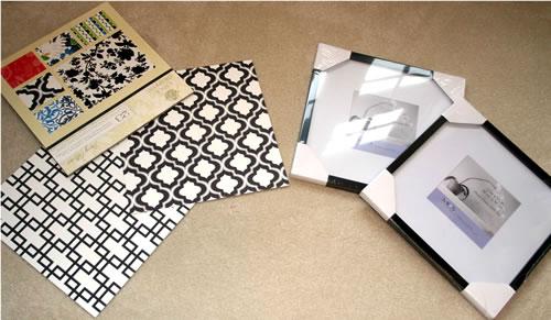 diy paper framing materials