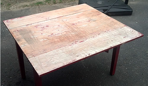 table stripped