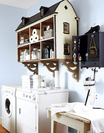 Dollhouse Laundry Storage Upcycling Idea
