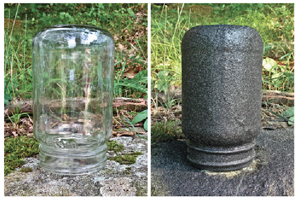 Mason Jar Before and After