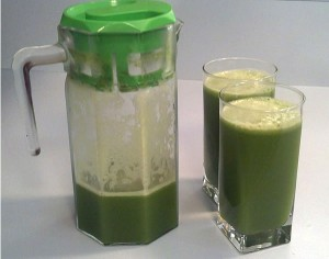 batching green juice for later use