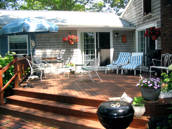 container gardens on patio