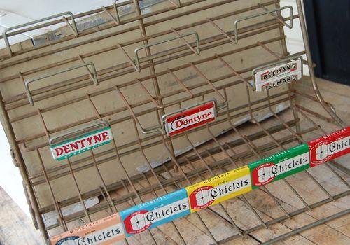 vintage candy rack