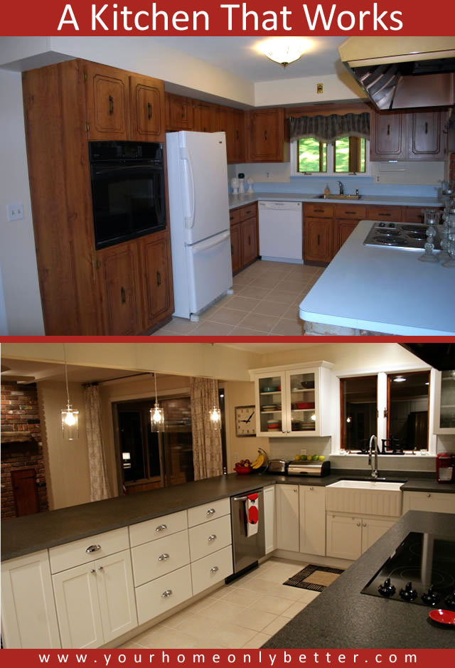 a kitchen that works before and after