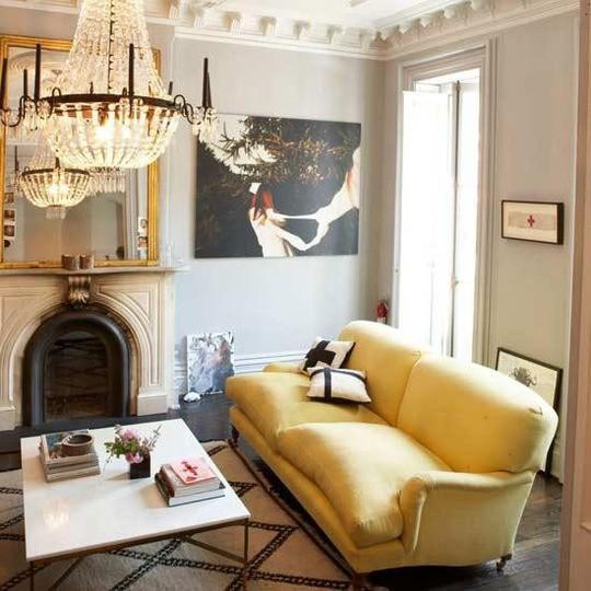fall colors gold sofa