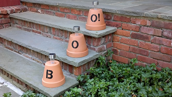 Easy DIY Flowerpot Lantern for Halloween