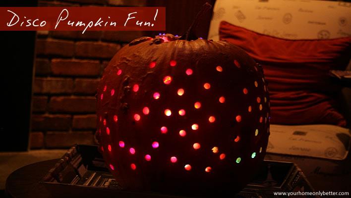 Disco Halloween Pumpkin