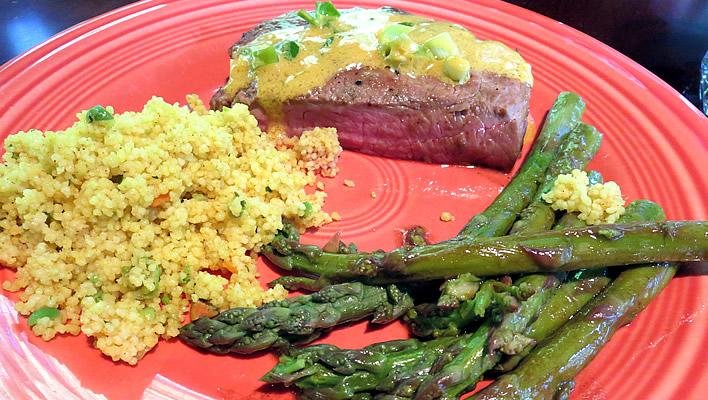 Tangy Mustard Marinated Steaks
