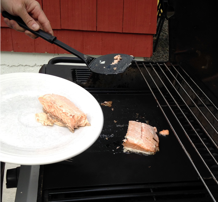 Grilling Salmon on the Grill Mat