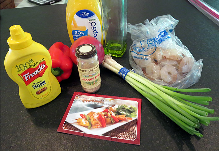 ingredients for Tropical Shrimp and Mango Kabobs #NaturallyAmazing