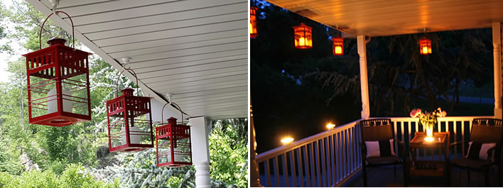 Light up the night Patio Lighting #YourHomeOnlyBetter