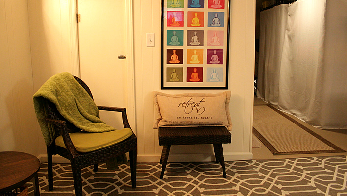Creating a Meditation Corner in my Basement Laundry Room