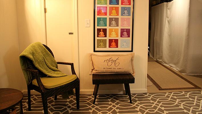 Creating a Meditation Corner in my Basement Laundry Room