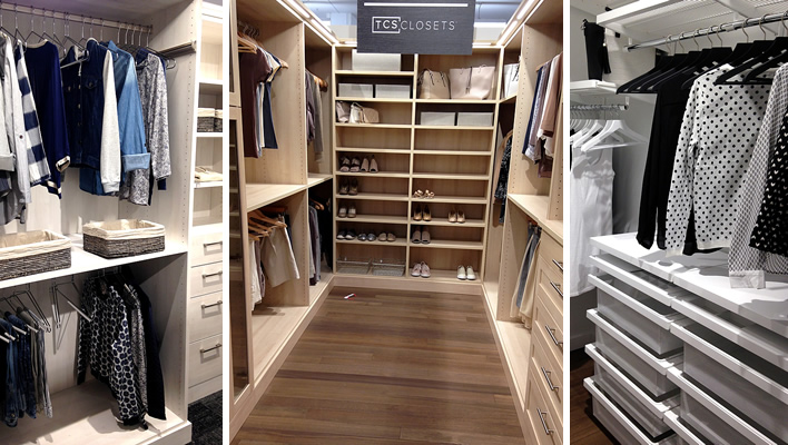 Organized closets that contain ALL your stuff