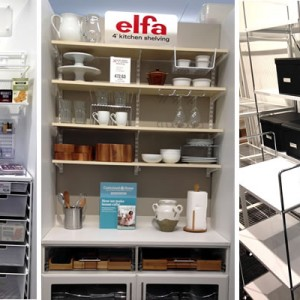 Could you use an Elfa in the kitchen to organize your stuff?
