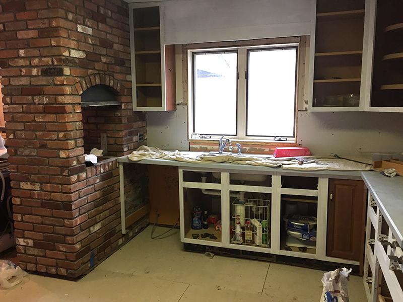kitchen renovation - progress shot