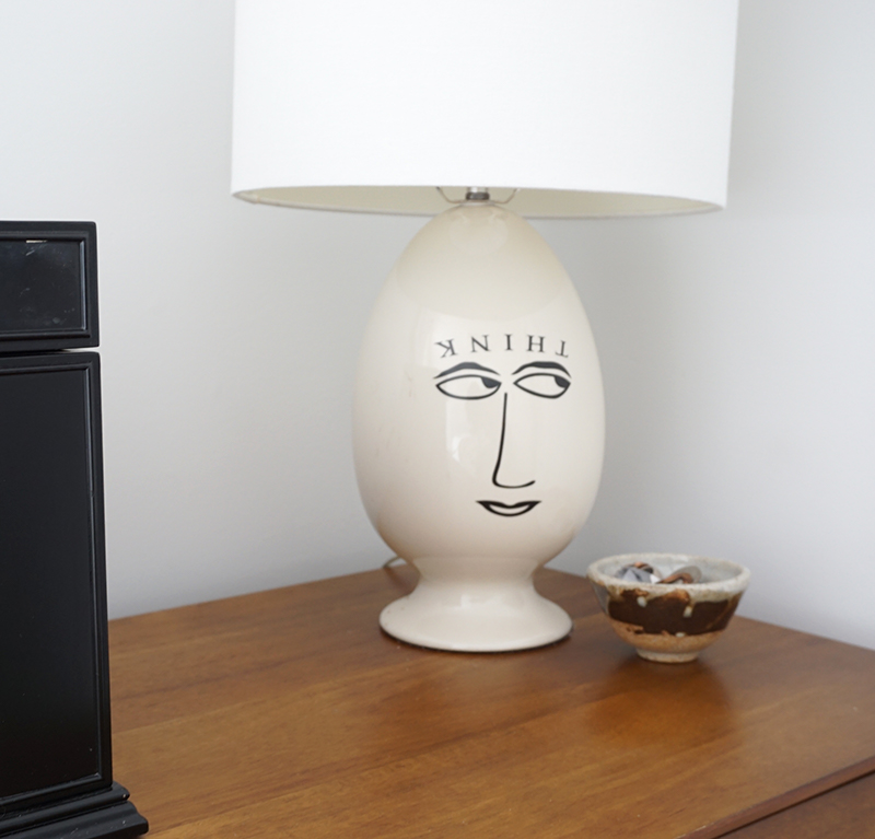 """""""think"""" lamp"""