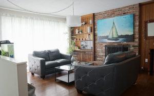 Dining Room Turned Dog-Friendly Living Room