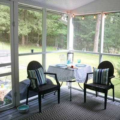 screened porch fixer upper