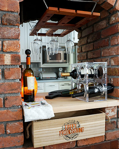 A DIY Repurposed Wine Bar