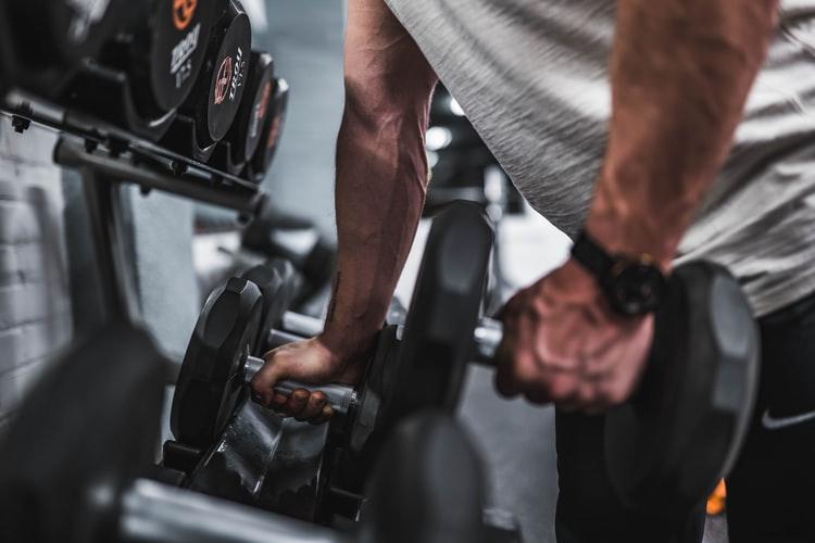 Exercising, weight training Gapin Institute