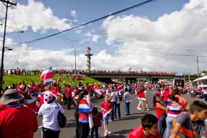 Costa Rican National Soccer Team Parade