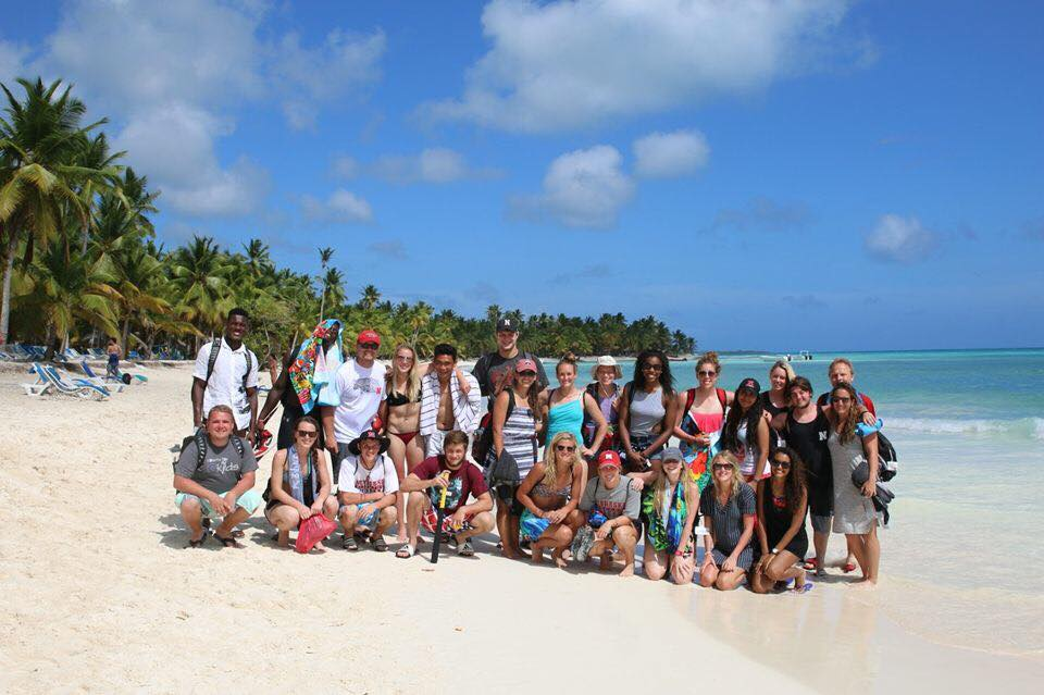 The group on Isla Saona