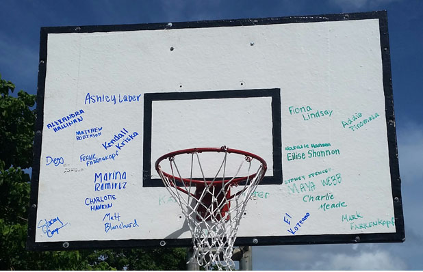 backboard...signed