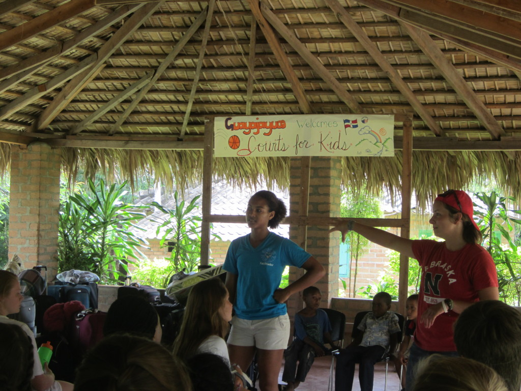 Peace Corps Volunteers Welcoming us to Guayajayuco