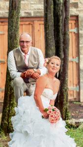 Linda Lavallée et Daniel Lafrance se sont mariés en juillet 2019. (Photo: Gracieuseté)