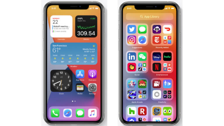 iOS 14 iPhone Widgets App Library