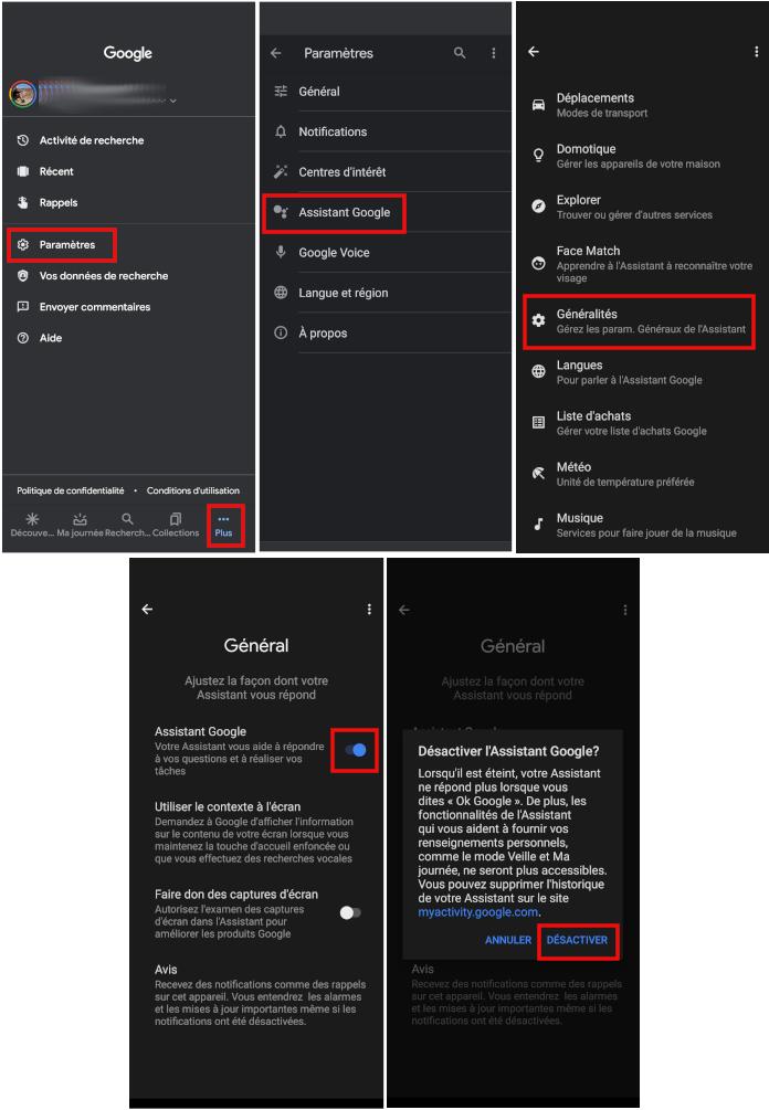 Désactiver assistant Ok Google téléphone