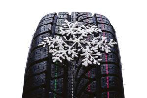 pneu d'hiver avec flocon