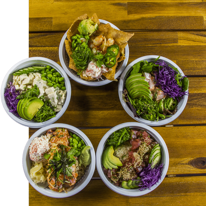 poke bowl options