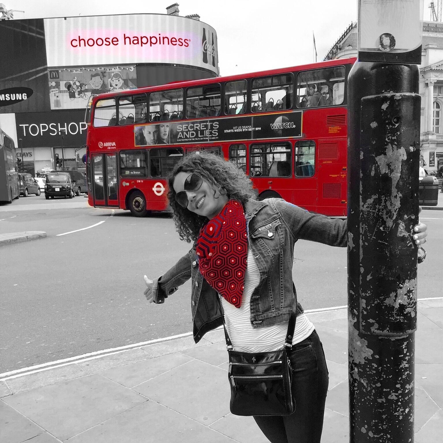 Kathy Jalali happy in London