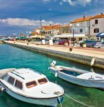 Biograd on the sea waterfront