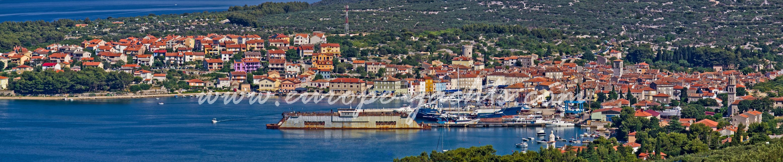 Cres island panorama view