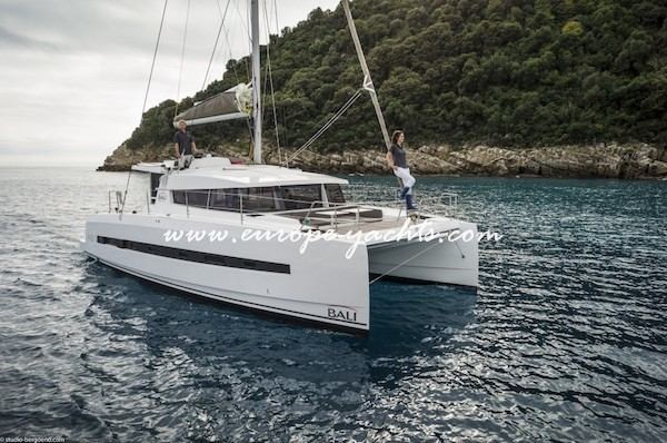 Bali 4.0 catamaran for charter with Europe Yachts Charter main