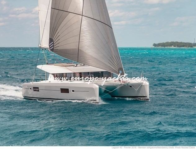 Lagoon 42 for charter with Europe Yachts main 2