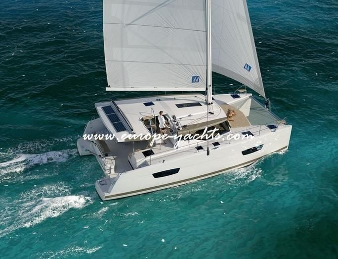 Fountaine Pajot Lucia 40 for charter in Croatia with Europe Yachts front