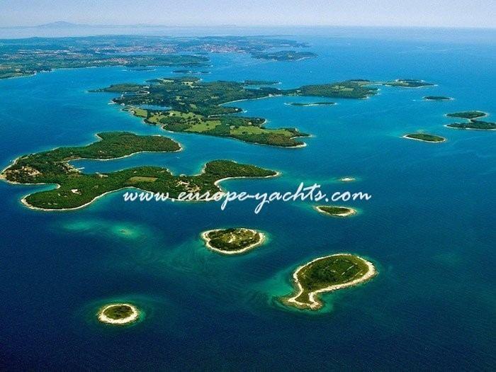 Brijuni nacional park near Dubrovnik Croatia. Yacht Charter Croatia