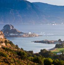 Kos, greek aegean sea island landscape